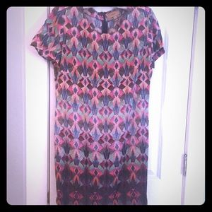 Anthropologie Kachel Diamond Shift Dress